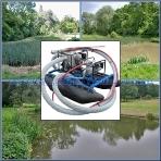 Очистка прудов,  озер,  рек,  доков,  причалов,  пристаней,  искусственных водоемов