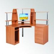 Стол компьютерный угловой с надстройкой.СУ-11 (Компанит)