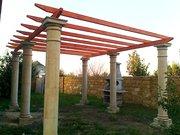 Строительство беседок,  террас,  стоянок для машин,  колон вдоль бассейно