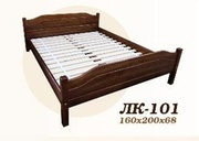 Кровать,  деревянная,  Лк- 101,  Скиф,  из массива хвойных пород деревьев.