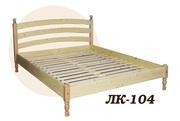 Кровать,  деревянная,  Лк- 104,  Скиф,  из массива хвойных пород деревьев.
