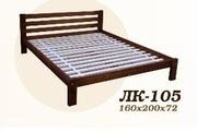 Кровать,  деревянная,  Лк- 105,  Скиф,  из массива хвойных пород деревьев