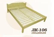 Кровать,  деревянная,  Лк- 106,  Скиф,  из массива хвойных пород деревьев