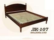 Кровать,  деревянная,  Лк- 107,  Скиф,  из массива хвойных пород деревьев.