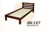 Кровать,  деревянная,  Лк- 127,  Скиф,  из массива хвойных пород деревьев