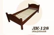 Кровать,  деревянная,  Лк- 128,  Скиф,  из массива хвойных пород деревьев