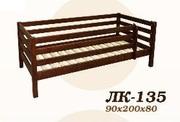 Кровать,  деревянная,  Лк- 135,  Скиф,  из массива хвойных пород деревьев