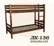 Кровать,  деревянная,  Лк- 136,  Скиф,  из массива хвойных пород деревьев.