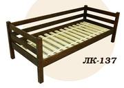 Кровать,  деревянная,  Лк- 137,  Скиф,  из массива хвойных пород деревьев.