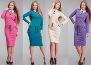 Платья женские трикотажные оптом,  большие размеры