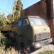 Продаем автокран СМК 7М,  г/п 7, 5 тонн,  1986 г.в.,  МАЗ 500,  1975 г.в.