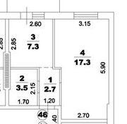 1 к квартира в ЖК Новый Люстдорф
