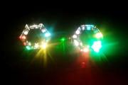Комплект мобильного света для дискотеки/караоке (2 фонаря+лазер)!