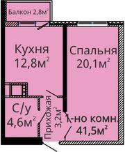 Продам однокомнатную ЖК Альтаир 2 / Люстдорфская дорога Комиссия 0%