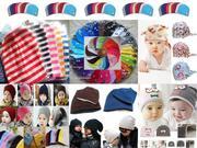 Детские шапки,  зимние шлемы,  летние банданы