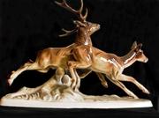 Продам статуэтку «Бегущие олени» (Австрия,  50х годов).