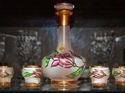 Продам ликёрный набор из богемского стекла: графин (24 см) и 6 рюмочек