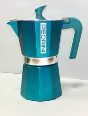 Гейзерна кавоварка Pedrini Алюміній 180 мл Бірюзова (02CF029)