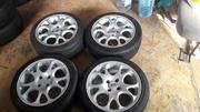 диски легкосплавные RH 4x100 r15 c летними шинами