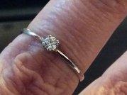 Колечко с бриллиантом 0. 13 карата