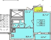 1 к квартира на Святослава Рихтера,  новый дом