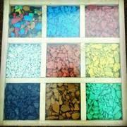 Декоративный цветной щебень,  различные цвета и фракции