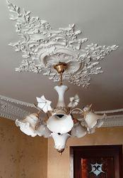 Люстра стеклянная,  в классическом стиле,  флористика (Италия)
