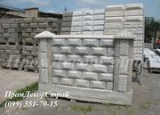 Блоки бетонные заборные декоративные в Одессе