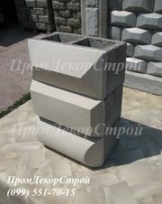 Облицовочные рельефные блоки для забора в Одессе